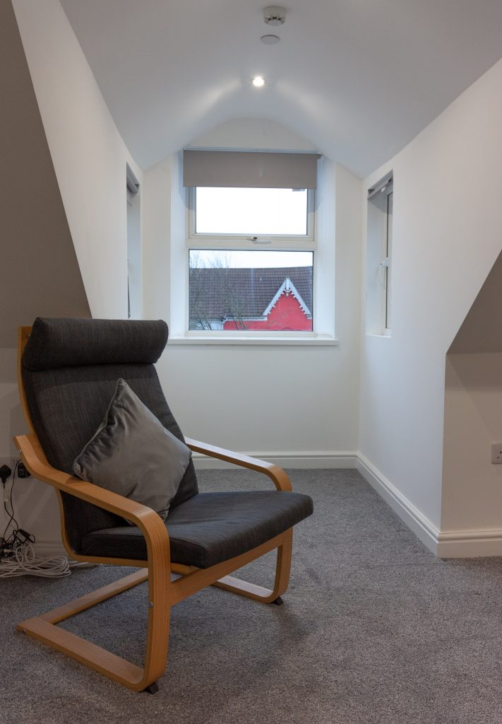 Loft rm 7, chair and dormer window